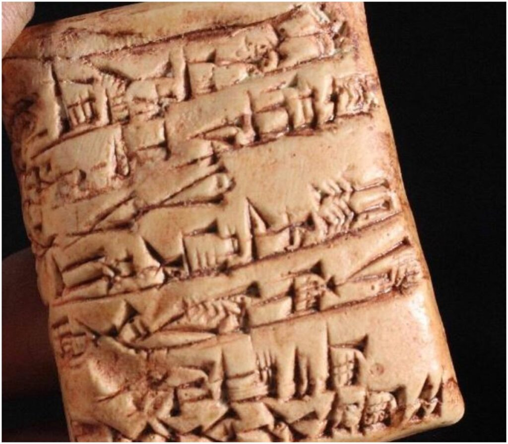 Shopping List Clay Tablet